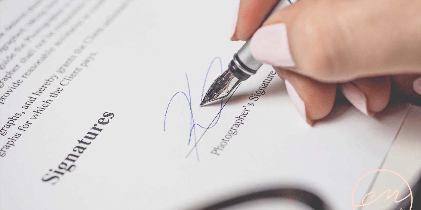 Contratos a considerar cuando se está emprendiendo